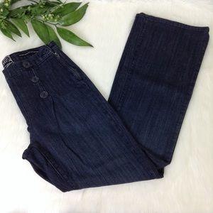 NYDJ Jeans - NYDJ Sailor Jeans Wide Leg Dark Wash SZ 6